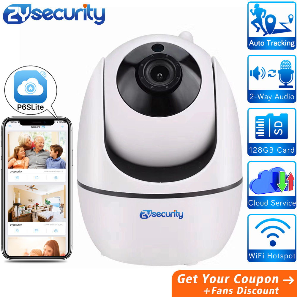 ZYsecurity 1080P Cloud IP Camera Home Security Surveillance Auto Human Tracking Network WiFi Wireless CCTV