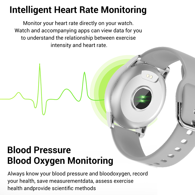 Inteligente para Mulheres dos Homens Multifuncional para Iphone Smartver + Caixa Lige Novo Relógio Tela Colorida Freqüência Cardíaca Pressão Arterial Esporte 2020 1.3