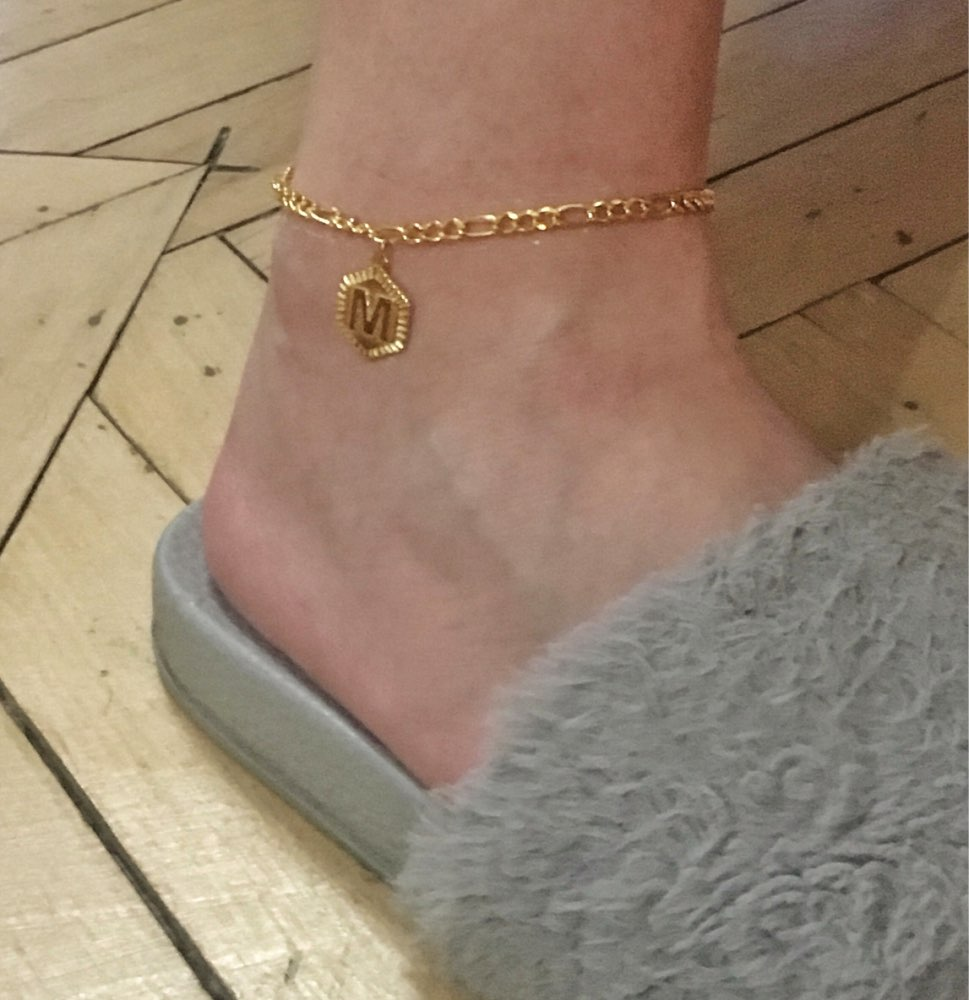 Fashion A-Z Alphabet Initial Anklets Women Men Boho Jewelry Stainless Steel Foot Chain Letter Anklet Bracelet Femme BFF