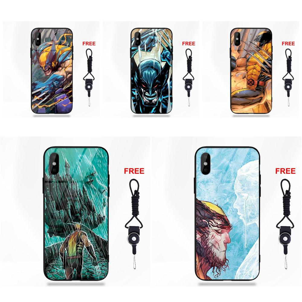 Marvel Comics Super Hero Wolverine For Apple iPhone 5 5C 5S SE 6 6S 7 8 Plus X XS Max XR image
