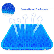 Gel Seat Cushion Cooling-Mat Honeycomb Silicone Back-Pain Thick TPE for Pressure-Relief