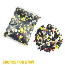 500PCS Mixed Auto Tür Trim Panel Clip Verschluss Stoßstange Nieten Retainer Kit Auto Niet Clips Set Für BMW E53 e60 E61 E39 Heißer Verkauf
