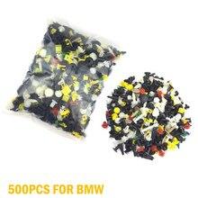 500 sztuk mieszane samochodów zacisk panelu drzwi zapięcia zderzak nity zestaw ustalający samochód nit zestaw klipów dla BMW E53 E60 E61 E39 gorąca sprzedaż