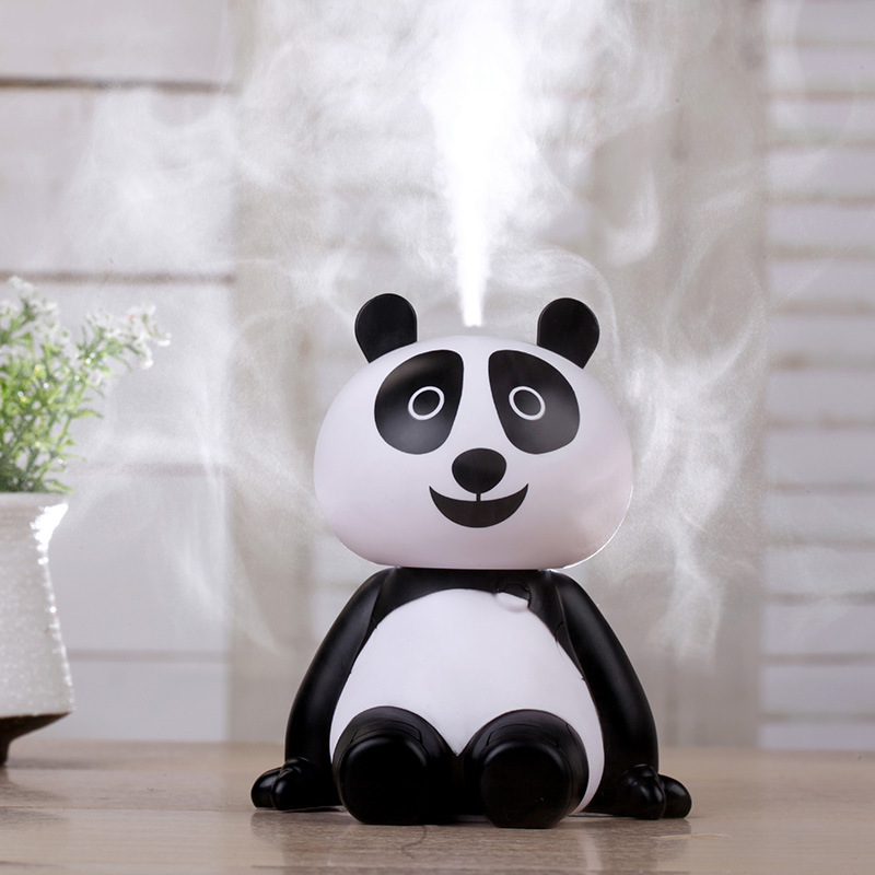 Cute Panda Cool Mist Air Humidifiers, Portable Mute Aroma Essential Oil Diffuser USB Aromatherapy Atomizer For Bedroom