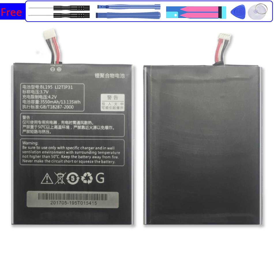 3550mAh L12T1P31  Mobile Phone Battery For Lenovo BL195 A2107 A2207  with Track Code