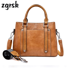Ladies Handbags Party Satchel Zipper Solid Pu Leather Small Bags For Women Crossbody Brown Retro Bolsos