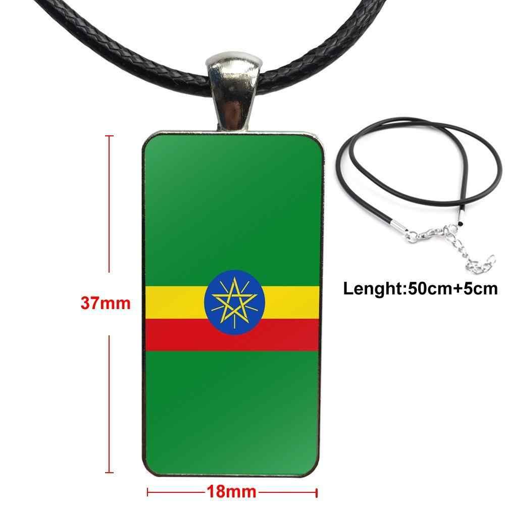 ยอดนิยมเอธิโอเปียธงจี้ Galaxy จี้สร้อยคอผู้หญิงสร้อยคอเครื่องประดับสำหรับของขวัญ Unisex