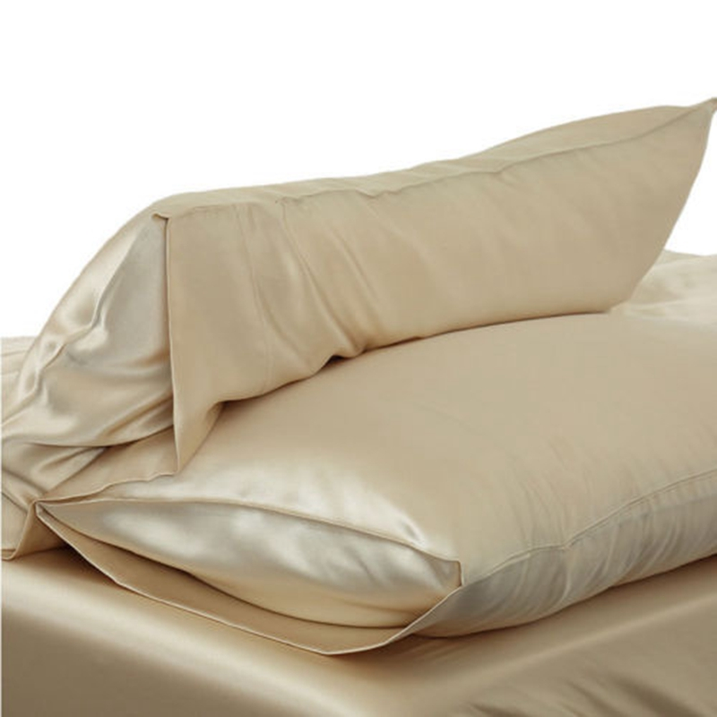 Silky Satin Pillow Cases Bedding Fitted Pillowcase Silk Like Plain Cushion Silk Pillow Case Cushion Cover Pillowcase 51x76cm