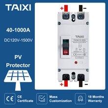 500v 1000v 1500v dc disjuntor moldado caso disjuntores 200a 300a 400a 600a isolador pv fotovoltaico protetor de alta corrente