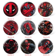 58MM Deadpool Anime Cosplay Badge dessin animé broches broches Collection sacs Badges pour sacs à dos vêtements(China)