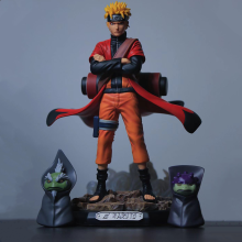 Uzumaki Naruto Naruto Sage Action Anime Figuren Pvc Speelgoed Shippuden Collector Beeldje Uchiha Sasuke Brinquedos Model Pop Figma(China)