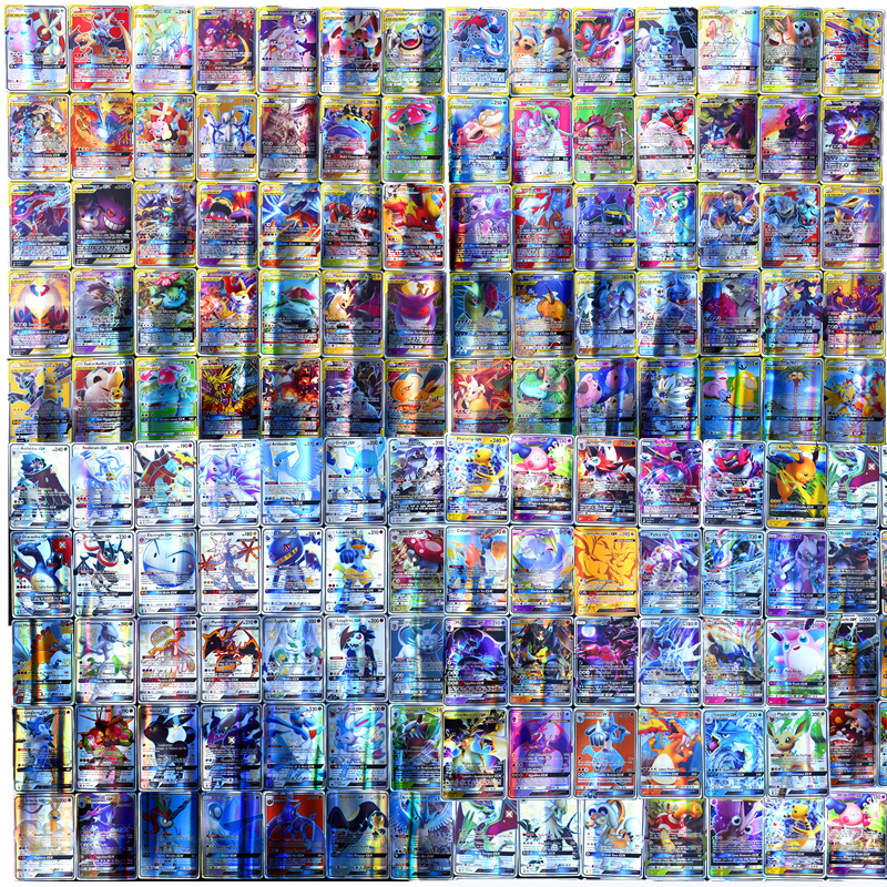 GX MEGA Shining French Pokemon Cards Game Battle Metal Carte Trading Cards Game Children Pokemons Toy