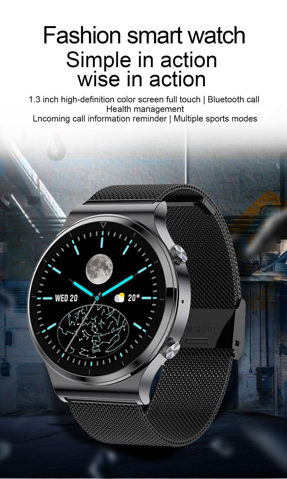 H9d999941ffb4449ea92bcfe9128b51170 LIGE 2021 New Smart watch Men IP68 waterproof watch Multiple sports modes heart rate weather Forecast Bluetooth Men Smart watch