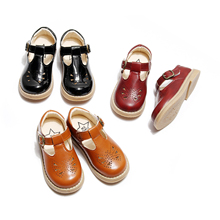 Kids Shoes Butterfly Hollow Girls Oxfords Shoes T-bar Casual