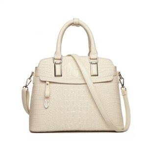 Image 1 - ワニのパターン革ハンドバッグの女性のバッグ新シンプルなための女性高品質の女性のメッセンジャーショルダーバッグ HC258