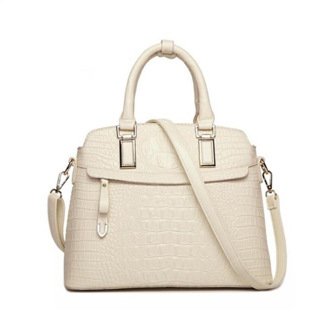 ワニのパターン革ハンドバッグの女性のバッグ新シンプルなための女性高品質の女性のメッセンジャーショルダーバッグ HC258