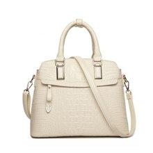 Timsah desen deri çantalar kadın çantası yeni basit Crossbody çanta Lady için yüksek kalite kadınlar Messenger omuz çantaları HC258