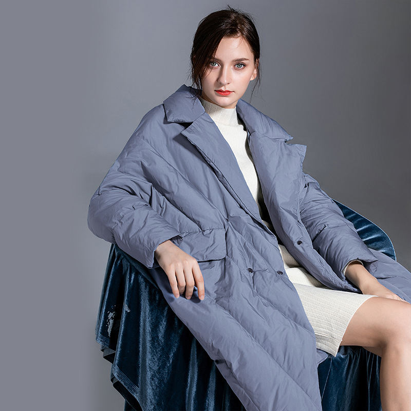 Shuchan 2019 Winter Oversized   Down   Jackets 90% White Duck   Down   Women   Down     Coats   Jackets Warm Woman   Down   Parka Covered Button