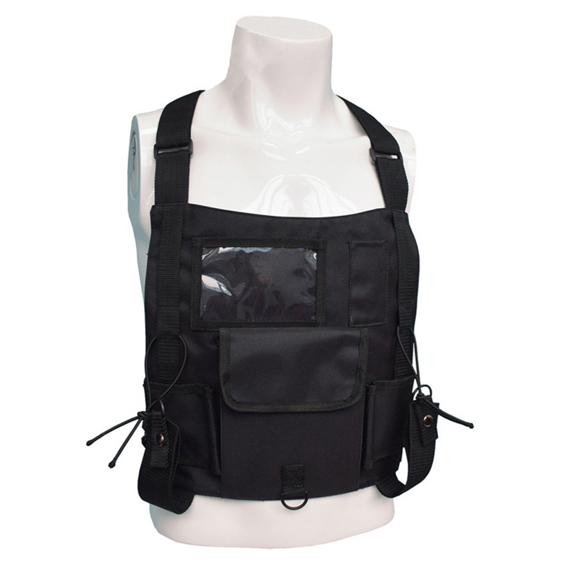 Security Tactical Vest Protection Walk  Talkie Wireless Pager Vest Safety Tactical Protective Clothing Unisex Outdoor Camping