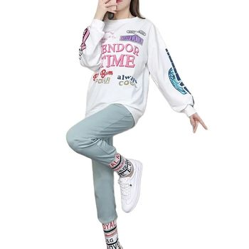 Fashion Two Piece Set Women Sports And Leisure 2021 Hip-Hop Printing New Autumn Loose Women's Clothing With Free Shipping 1