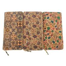 KANDRA Portugal Tile Pattern Print Natural Cork Wallet 2019 Wooden PU L