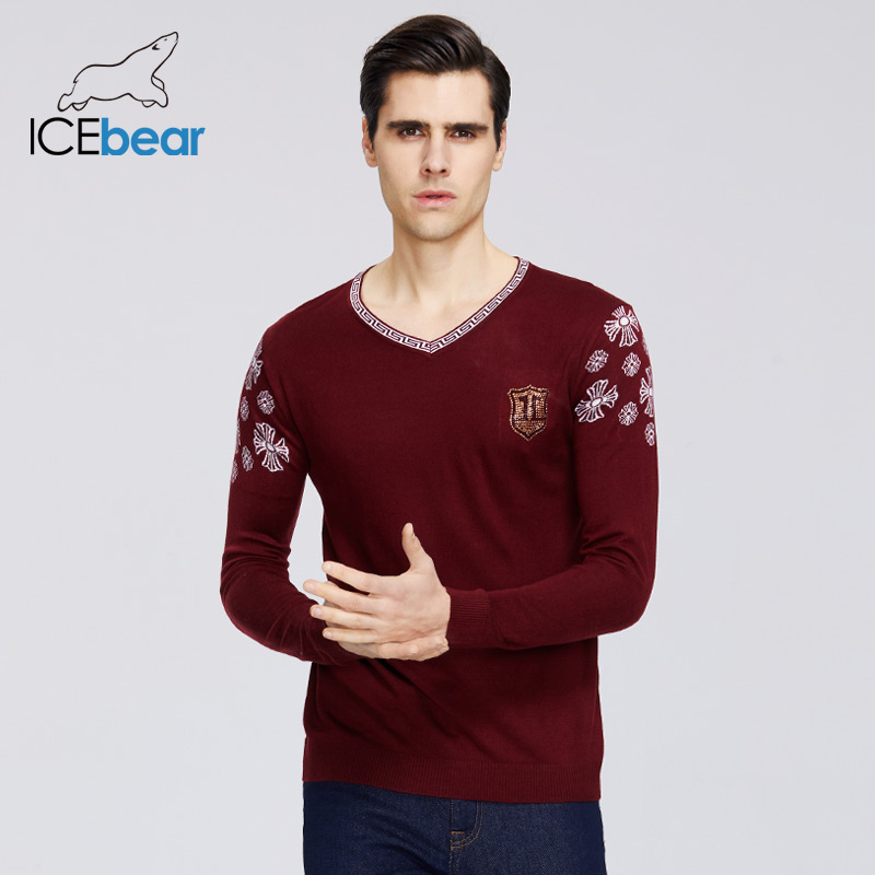 ICEbear 2020 New Men's Spring Sweater Casual V-neck Sweater Business Casual Quality Men's Clothing A-39