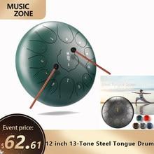 12 cal 13-dźwięk język bęben ze stali Mini ręcznie Pan bębny z podudzia perkusyjny Instrument muzyczny ze względu na: relaks yoga praktyki