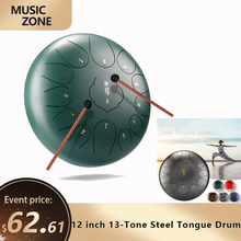 Drums Percussion Hand-Pan Musical-Instrument Relaxation Practice 13-Tone Steel Mini 12inch