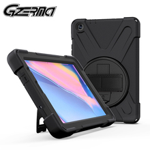 Shockproof Case For Samsung Galaxy Tab A 8 0 2019 S Pen SM-P200 P205 Silicon Stand Cover For Samsung Galaxy Tab A Tablet Case cheap GZERMA Protective Shell Skin Solid 14 5cm Fashion Waterproof Drop resistance Anti-Dust Hard 21 5cm SM-P200 SM-P205 Black Blue Red Green Purple Orange