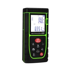 40 m medidor alcance finder medida handheld digital distância área volume com bolha nível medida ferramenta