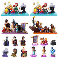 Princess figure toy Evil Monkey Tiger Aladdin and His Lamp Mermaid PVC Action Figure Model Toy Dolls