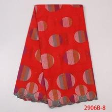 Высокое качество цветок африканская кружевная ткань женское платье для выступлений на сцене свадебное кружевное вышитое цветной Глобус вышивка YA2906B-8