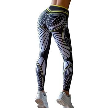 SALSPOR Sexy Women Sport Leggings Gym High Waist Push Up Printing Leggings High Stretch Slim Yoga Pants Fitness Women Leggings 8