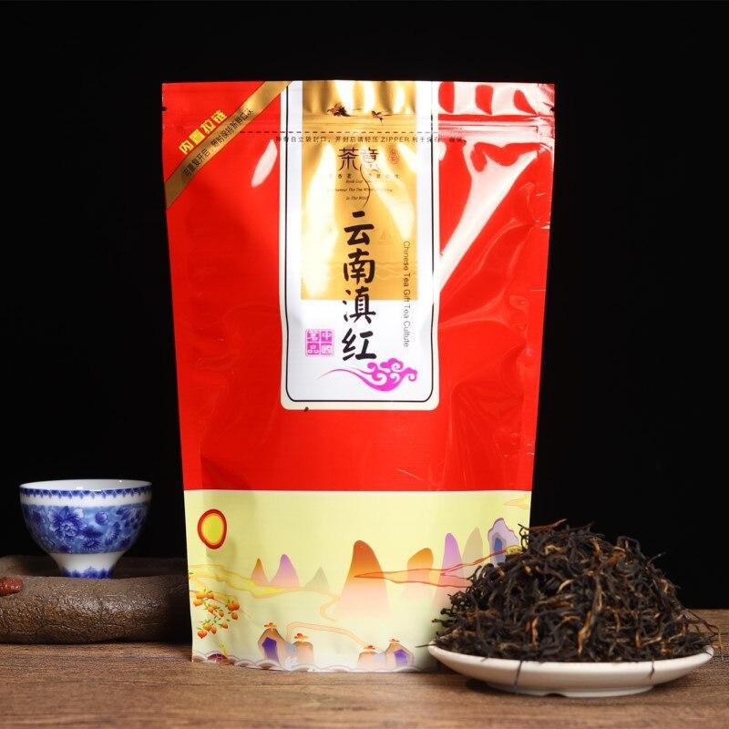 الشاي الصيني يونان ديان هونغ الشاي قسط الشاي ديانهونغ الجمال التخسيس مدر للبول أسفل ثلاثة الغذاء الأخضر ديان هونغ الشاي الأسود