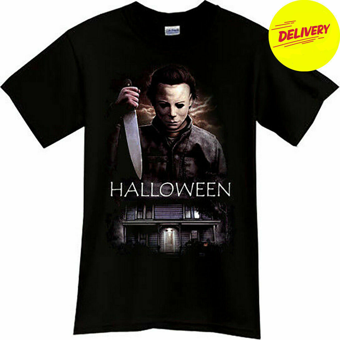MICHAEL MYERS Halloween Horror Thriller Movie Black T-Shirt All Colors Men Women Unisex Fashion tshirt Free Shipping image
