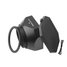 37mm Screw Mount DV Lens Hood + Cap For Digital Video Camera