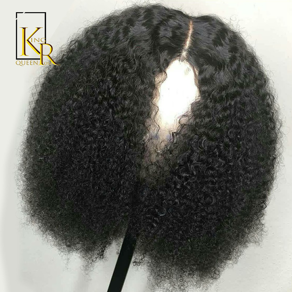 150% Density Lace Front Human Hair Wigs For Women With Black Afro Kinky Curly Glueless Brazilian Remy Hair 13X4 Lace Wigs