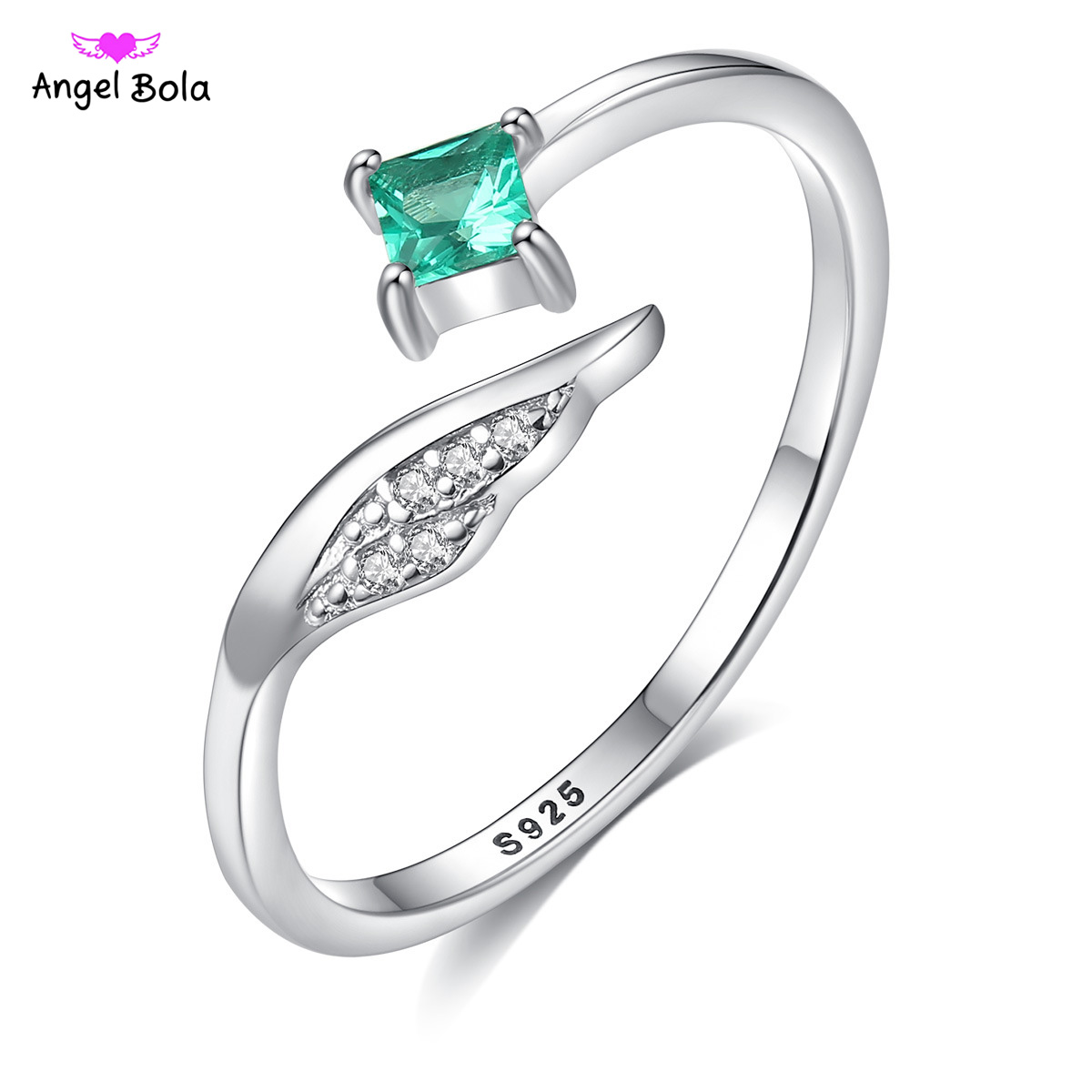 Square Sterling Silver S925 Crystal Ring for Women Fashion Bague Wedding Bizuteria Gemstone White s925 Jewelry Ring