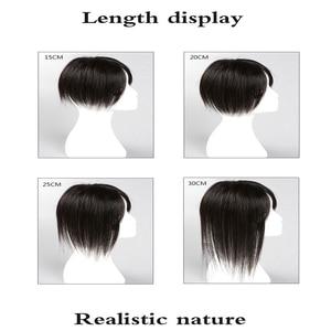 Image 4 - BUQI extensions capillaires naturels lisses pour femmes, bloc Invisible à remplacer, à couleur noire et brune, pour moins de cheveux