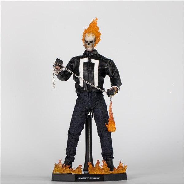 Gorące zabawki Marvel Ghost Rider Johnny Blaze pcv Action figurka kolekcjonerska zabawki w Figurki i postaci od Zabawki i hobby na  Grupa 1