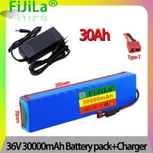 Аккумулятор для электрического велосипеда, 36 В, 30 Ач, 18650 аккумулятор 10S3P 500 Вт, высокая мощность и емкость, для мотоцикла, скутера с BMS + зарядным устройством