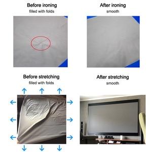 Image 3 - Tragbare Projektor Bildschirm Reflektierende Stoff Tuch Projektion Vorhang Hoch Erhöhen Helligkeit für Niedrigen Lumen Projektoren