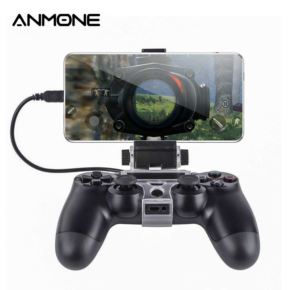 ANMONE Cellphone Clamp Mobile Phone Gaming Clip Holder For PS4 Game Controller SLIM PROPS4 DualShock 4 Game Adjustable Stojak