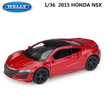 WELLY 1:36 Scale 2015 HONDA NSX Model Car Pull Back Diecast Toy Vehicle Alloy Car Toy Metal Toy Car For Kids Gifts Collection image