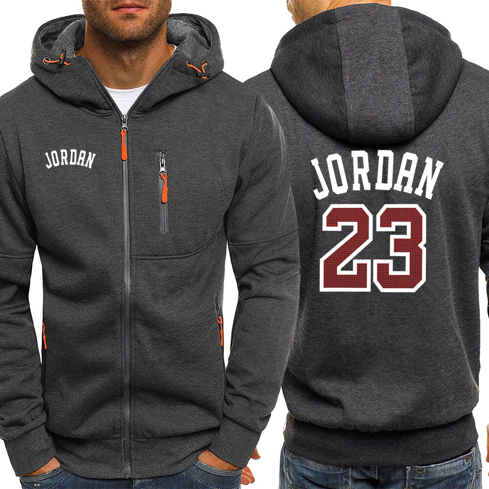Jordan 23 Print Mens Hoodies Hot Sale Autumn Jacket Zipper Sweatshirt Hip Hop Fashion Streetwear Fitness Sport Outdoor Tracksuit