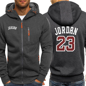 Image 2 - Jordan 23 Print Mens Hoodies Hot Sale Autumn Jacket Zipper Sweatshirt Hip Hop Fashion Streetwear Fitness Sport Outdoor Tracksuit