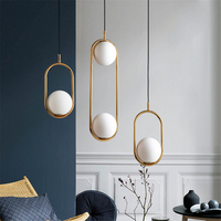 Nordic Led Pendant Lights Lighting Luminaire Industriel Hanging Lamp Lustre Suspension Ball Glass Pendant Lamps Kitchen Fixtures