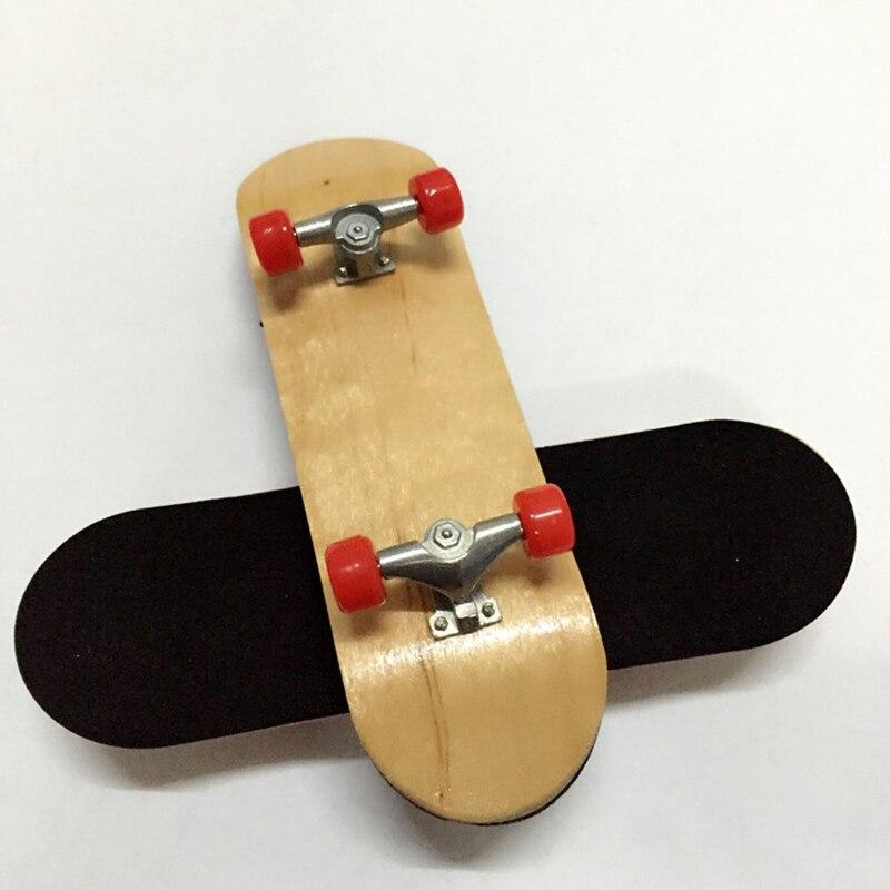 New Professional Mini Finger Skateboard Toy Alloy Maple Wooden Fingerboard Finger Skate Board Novelty Children Gift