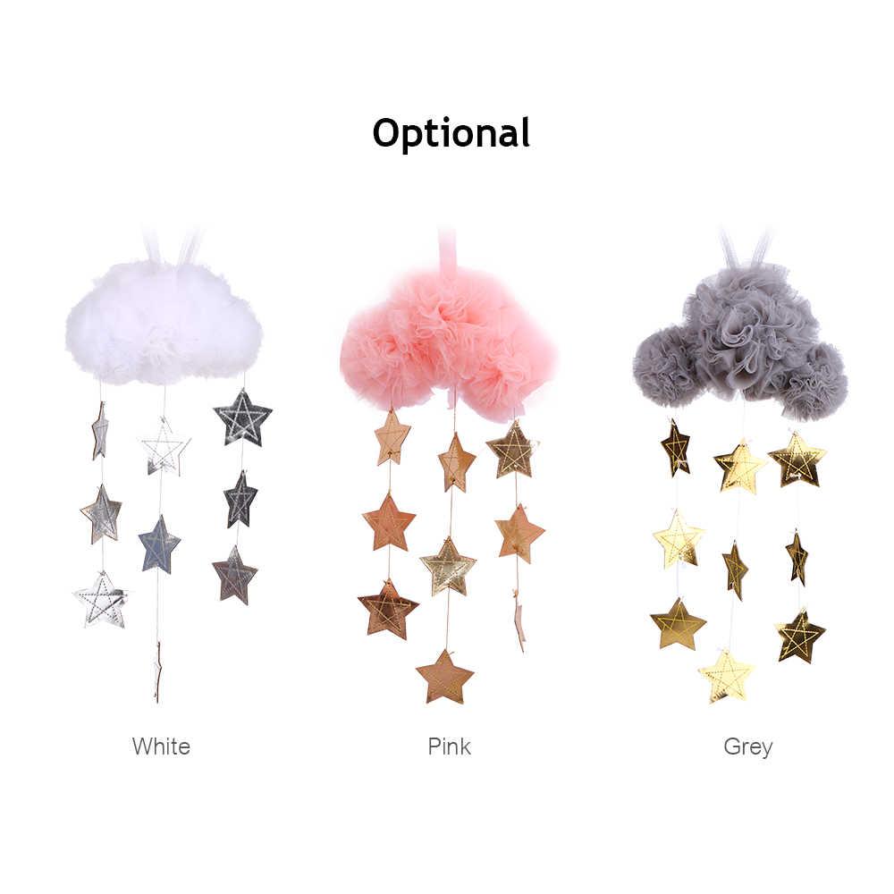 แขวนเมฆและดาวตกแต่งเด็กเด็กตกแต่งห้อง Handmade เด็กเตียงแขวนประดับเด็ก Crib ตกแต่งห้อง