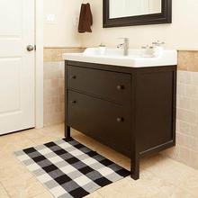 60x90cm Alfombra tejida de algodón nórdico borlas alfombra de dormitorio alfombra Simple moderna antideslizante alfombra de baño alfombra de cocina decoración del hogar